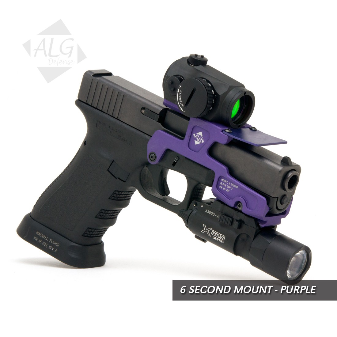ALG Defense 6 Second Mount for G3 Glock 17, 22, 24, 31, 34, 35