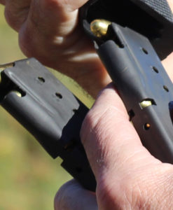 Single Stack Magazine The 8-round 9mm single stack magazine allows the pistol to maintain a slim profile for conceal carry