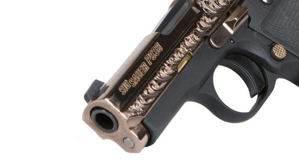 SIG Sauer P938 ROSE GOLD - Polished and Engraved Slide
