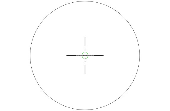 RS27-C-1900029: AccuPower® 1-8x28 Riflescope MIL Segmented Circle Crosshair w/Green LED, 34mm Tube