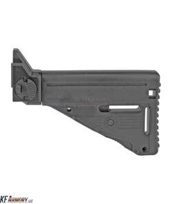 B&T Folding Retractable Stock For APC9/45/223/308 - Black